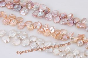 11-16mm side-drilled reborn pearl strand